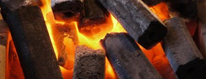 Горящий каменный уголь